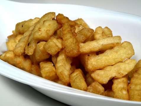 Pommes frites oppskrift.