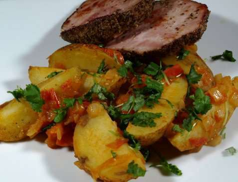 Spanske chili-poteter oppskrift.