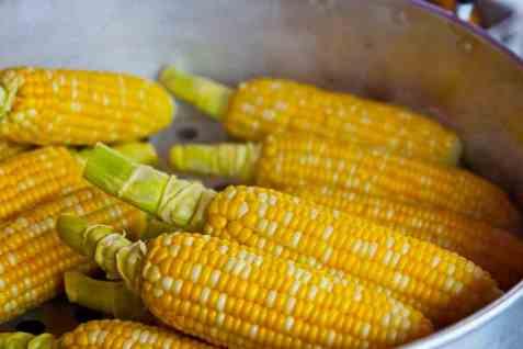 Kokte maiskolber oppskrift.