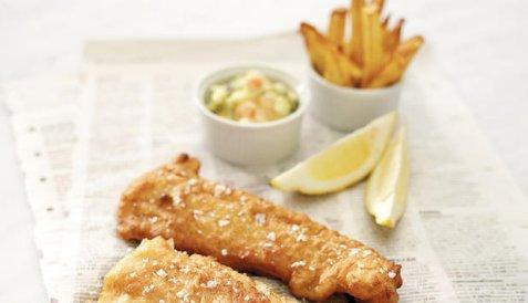 Fisk & chips oppskrift.